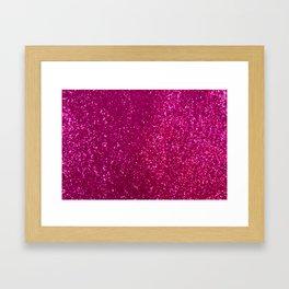 Glamours Fuchsia Glitter Framed Art Print