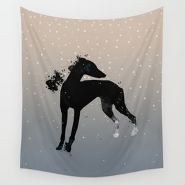Black Dog Wall Tapestry