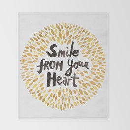 Smile From Your Heart Throw Blanket