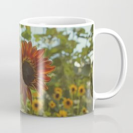 Red Sunflower Coffee Mug