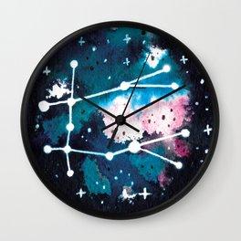 Gemini Constellation Watercolour Wall Clock