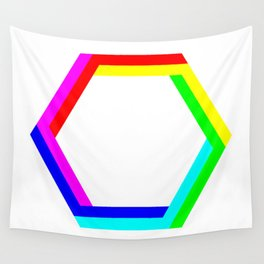 Penrose Hexagon Wall Tapestry