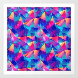 Rainbow Triangle Pattern Art Print