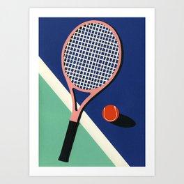 Malibu Tennis Club Art Print