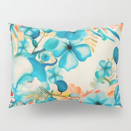 Coral Blooms Pillow Sham