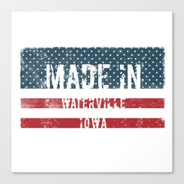 Made in Waterville, Iowa Canvas Print