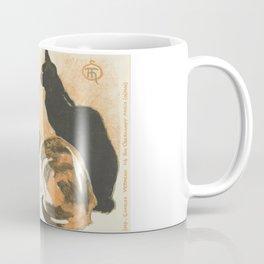 """Théophile Steinlen """"At La Bodinière (A la Bodinière)"""" Coffee Mug"""