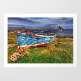 Lindisfarne By The Sea Art Print