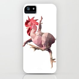 Naked Chicken (Low Poly Design) iPhone Case