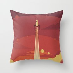 Atomic Sky Throw Pillow