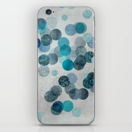 Shiny Glamour Dots Blue Aqua Teal Pattern Glitter  #blueglamour iPhone Skin