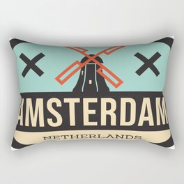 Amsterdam Windmill Badge XXX Rectangular Pillow