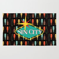 sin city Area & Throw Rugs featuring Sin City by Chelsea Dianne Lott