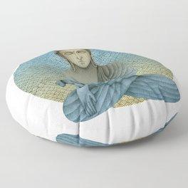 Buddha with dog4 Floor Pillow