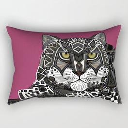 snow leopard pink Rectangular Pillow