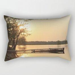 Sunset Dock Rectangular Pillow