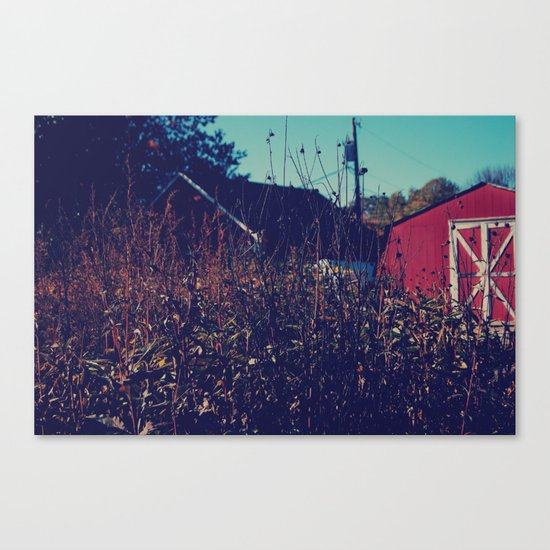 Barn Fall Canvas Print