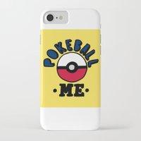 pokeball iPhone & iPod Cases featuring pokeball me by benjamin chaubard