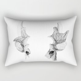 Spotted Deer - Can You See How Much Is Left? Rectangular Pillow