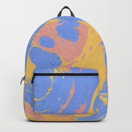 Yellow & blue paint Backpack