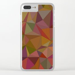Autumn  triangles Clear iPhone Case