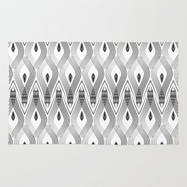Art Deco 56 . black and gray spiral . Rug