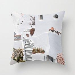 Santorini Architecture, Greece Throw Pillow