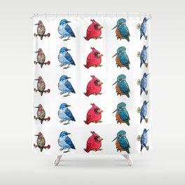 L'il Lard Butts - all the fat birds Shower Curtain