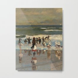 Beach Scene - Winslow Homer  Metal Print