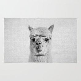 Alpaca - Black & White Rug