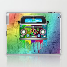 Hippie Bus Van Dripping Rainbow Paint Laptop & iPad Skin