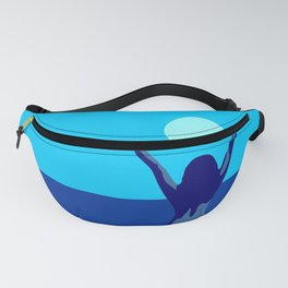 Blue sky and moon is calling me.. Fanny Pack