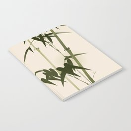 Oriental style bamboo branches 001 Notebook