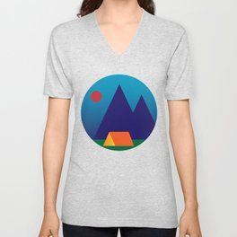 Sunset Camping Unisex V-Neck
