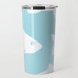 Carps in Light Blue Travel Mug