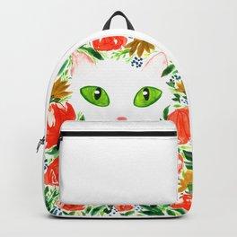 Cat Flor / Art Print / Jungle Cat Backpack