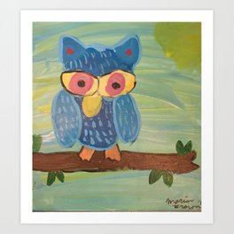 Owl in a Tree Art Print