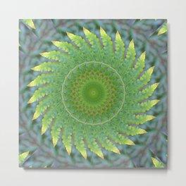 Palm Frond Kaleidoscope Metal Print