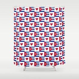 Flag of Cuba 3 -cuban,havana, guevara,che,castro,tropical,central america,spanish,latine Shower Curtain