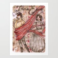 jane eyre Art Prints featuring Jane Eyre. An Autobiography  by Sarah Mary Street