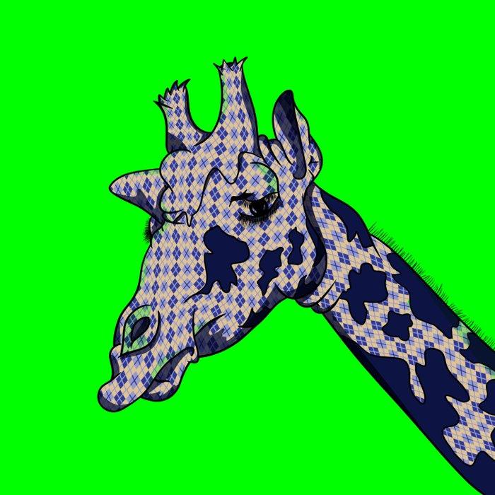 Argyle Giraffe Duvet Cover