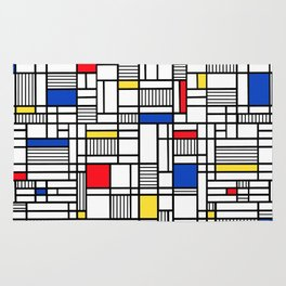 Map Lines Mond Rug