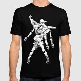 Gappy posing as freddy mercury T-shirt