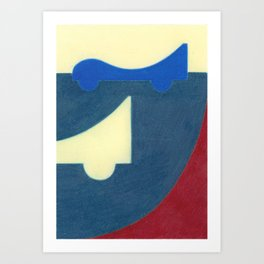 Blue Earth Art Print