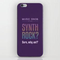 Synth Rock — Music Snob Tip #069 iPhone & iPod Skin