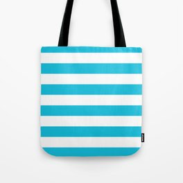 Bright Blue Stripes Tote Bag