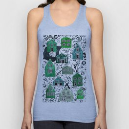 Scandinavian village Unisex Tank Top
