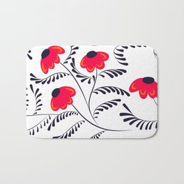 Beauty simple seamless floral pattern swirl Bath Mat