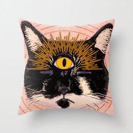 Pet Psychic Throw Pillow