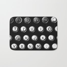 Typewriter keys Bath Mat